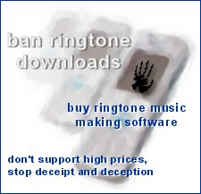 BAN RINGTONE DOWNLOADS AND TV ADVERTS FOR THEM